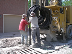 Residential geothermal drilling- geothermal heating and cooling. Tennessee